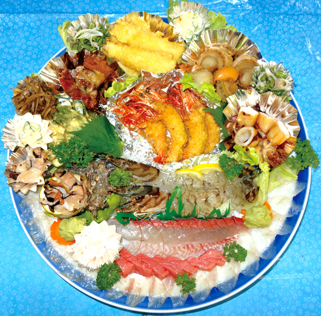 小冨士屋鮮魚店鉢盛り